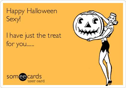 Card halloween sexy