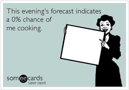 This evening's forecast indicates