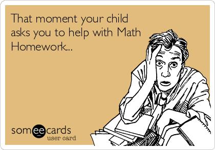 Math homework ecards