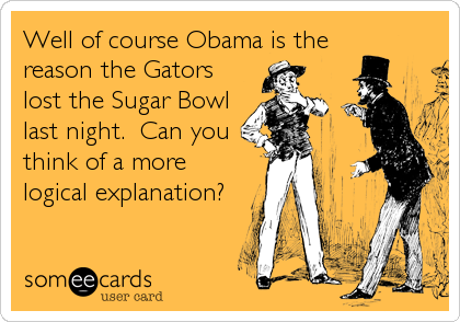 Well of course Obama is the