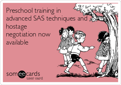 Preschool training in advanced SAS techniques and hostage negotiation now available