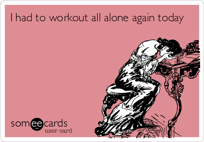 Image result for picture working out alone