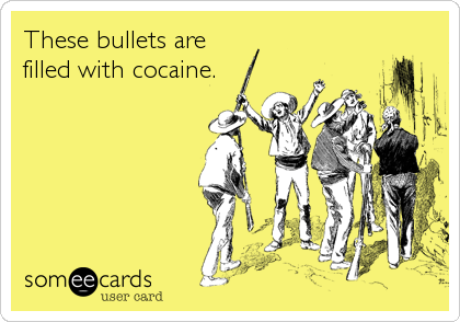 These bullets are filled with cocaine.
