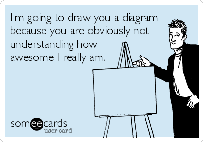 I'm going to draw you a diagram because you are obviously not understanding how awesome I really am.