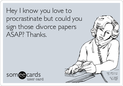 Is there a difference in who signs the divorce papers?