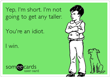 Yep, I'm short. I'm not