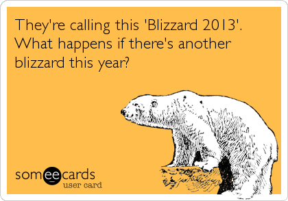They're calling this 'Blizzard 2013'. What happens if there's another blizzard this year?