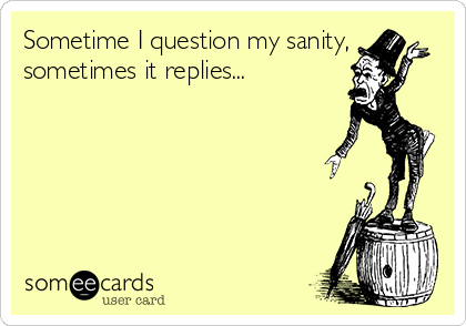 Sometime I question my sanity, sometimes it replies...