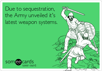Due to sequestration, the Army unveiled it's latest weapon systems.