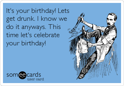 It's your birthday! Lets