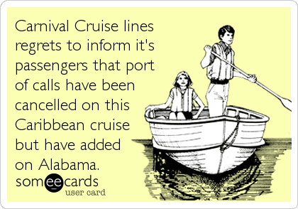 Carnival Cruise lines regrets to inform it's passengers that port of calls have been cancelled on this Caribbean cruise but have added<br /%3