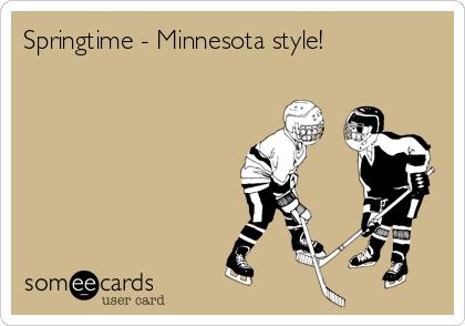 Springtime - Minnesota style!