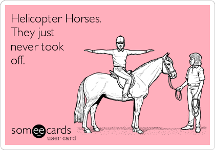 Helicopter Horses.  They just never took off.