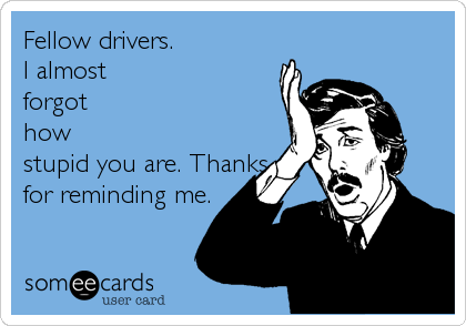 Fellow drivers. 
