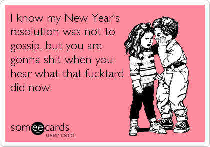 I know my New Year's