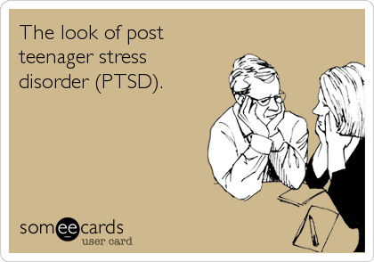 The look of post teenager stress  disorder (PTSD).