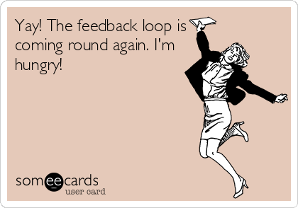 Yay! The feedback loop is coming round again. I'm hungry!