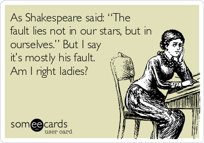 the fault in our stars shakespeare