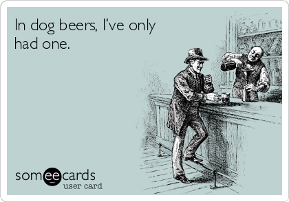 In dog beers, I've only had one.