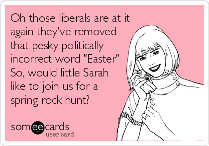 Oh those liberals are at it