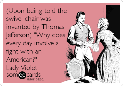 Superb Upon Being Told The Swivel Chair Was Invented By Thomas Gmtry Best Dining Table And Chair Ideas Images Gmtryco