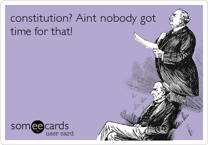 constitution? Aint nobody gottime for that!