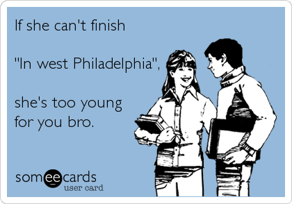 If she can't finish