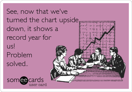 See, now that we've turned the chart upside down, it shows a record year for us!  Problem solved..