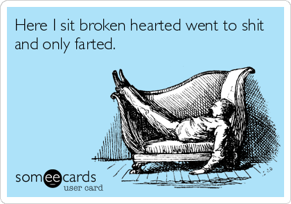 Here I sit broken hearted went to shit and only farted.