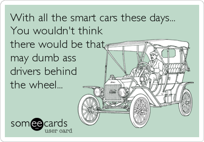 With all the smart cars these days... You wouldn't think there would be that may dumb ass drivers behind the wheel...
