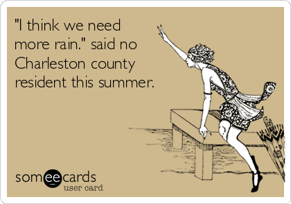 """I think we need  more rain."" said no Charleston county  resident this summer."