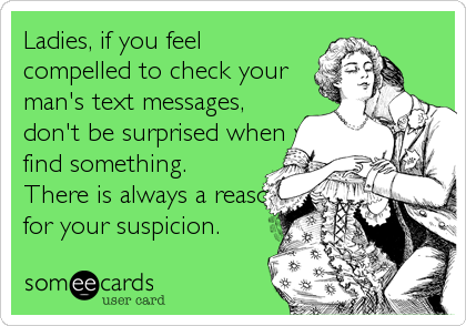 Ladies, if you feel