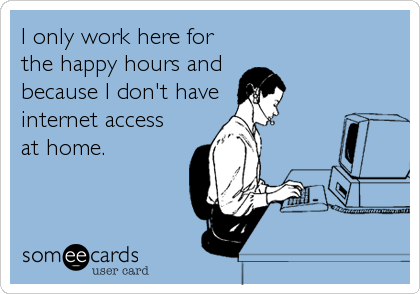I only work here for