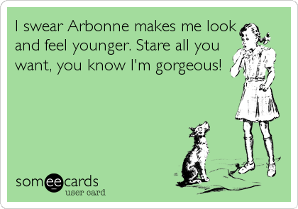 I swear Arbonne makes me look and feel younger. Stare all you want, you know I'm gorgeous!