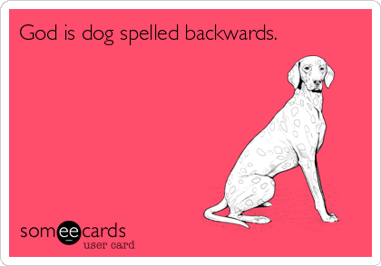 God is dog spelled backwards.