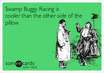Swamp Buggy Racing is cooler than the other side of the pillow