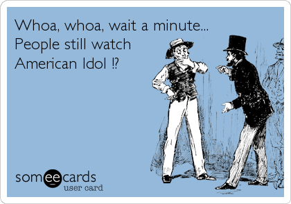 Whoa, whoa, wait a minute... People still watch American Idol !?
