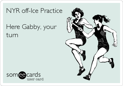 NYR off-Ice Practice  Here Gabby, your turn