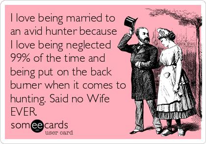Dating a hunter meme