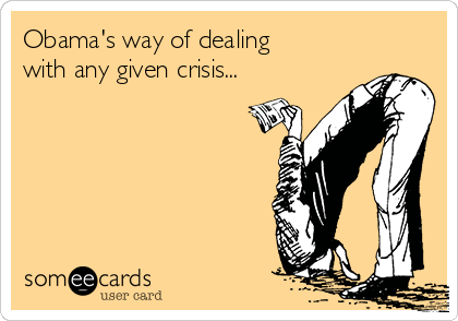 Obama's way of dealing with any given crisis...
