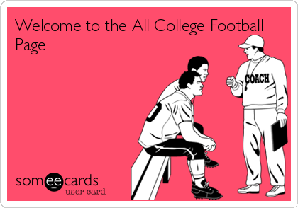 Welcome to the All College Football Page