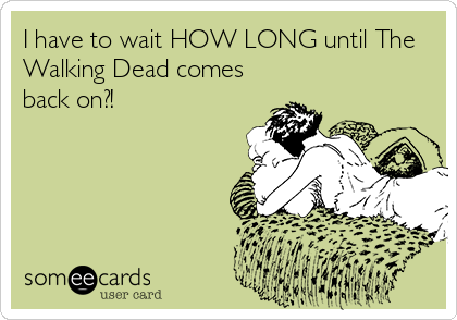 I have to wait HOW LONG until The Walking Dead comes back on?!