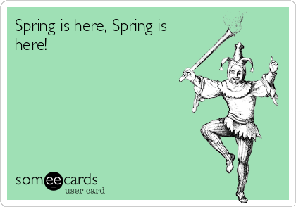 Spring is here, Spring is here!