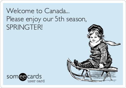 Welcome to Canada... Please enjoy our 5th season, SPRINGTER!