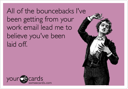 All of the bouncebacks I've