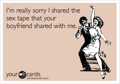 I'm really sorry I shared the