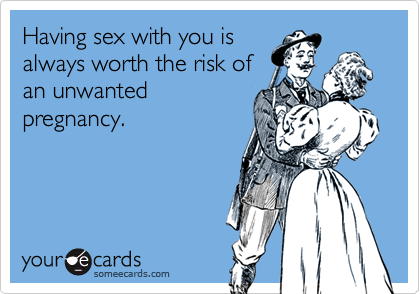 Having sex with you is