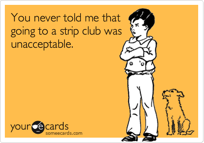 You never told me that 