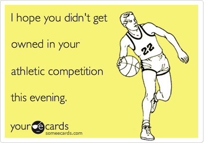 I hope you didn't get