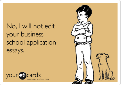 No, I will not edit